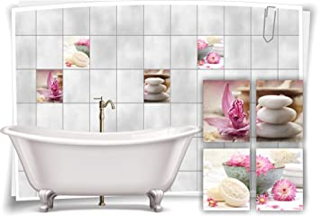 Spa wellness blumen  Medianlux Fliesenaufkleber Fliesenbild Blumen Orchidee Spa Wellness ...