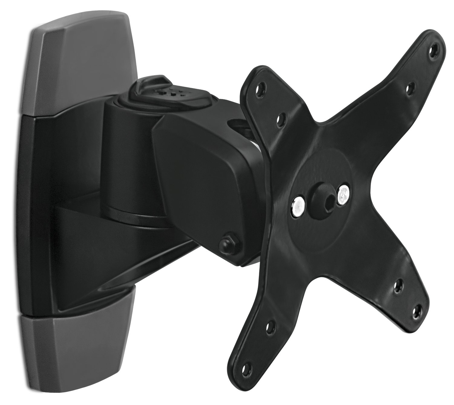 Mount-It! Monitor Wall Mount for TVs and Computers that Rotates, Swivels, and Tilts, VESA Compatible 75 and 100, Single Display Fits Screens 19 20 21.5 22 24 27 30 32 34 inches, Black (MI-31114B)