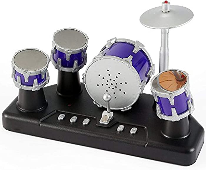 PowerTRC Electronic Mini Finger Drum | Full Drum Sounds | Desktop Accessories | Party Favors