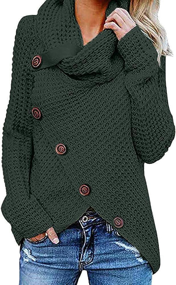 Weant Maglione Donna Maglione Donna Invernale Elegante Tumblr Collo Alto Donne Maglione Autunno Inverno Maglia Pullover Tops Maglione Natalizio Donna Felpa Donna Donna Sportiva Crop Top Autunno