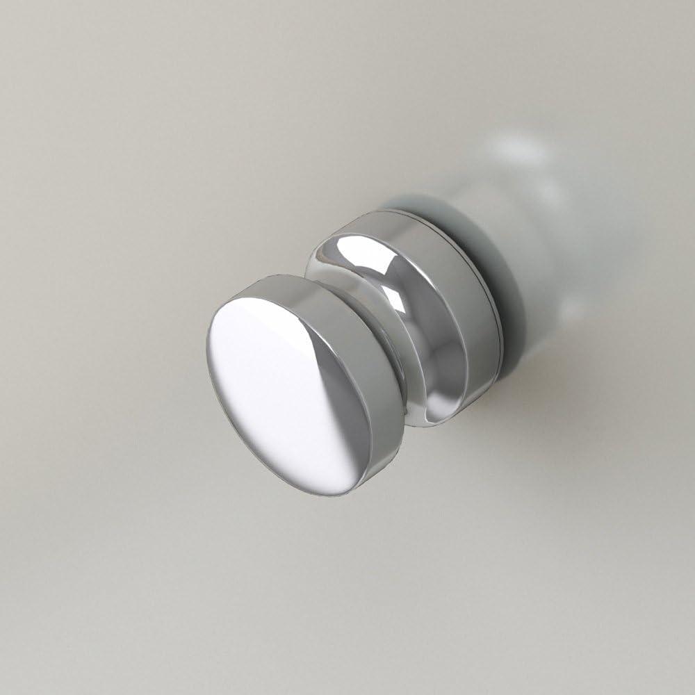 Mai /& Mai cabine de douche paroi de douche en angle 90x90cm ronde avec une porte en quart de cercle avec bac /à douche verre transparent de 8mm easy clean Rav06K