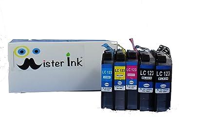Cartuchos de impresora compatible para Brother LC 123 LC-127 LC ...