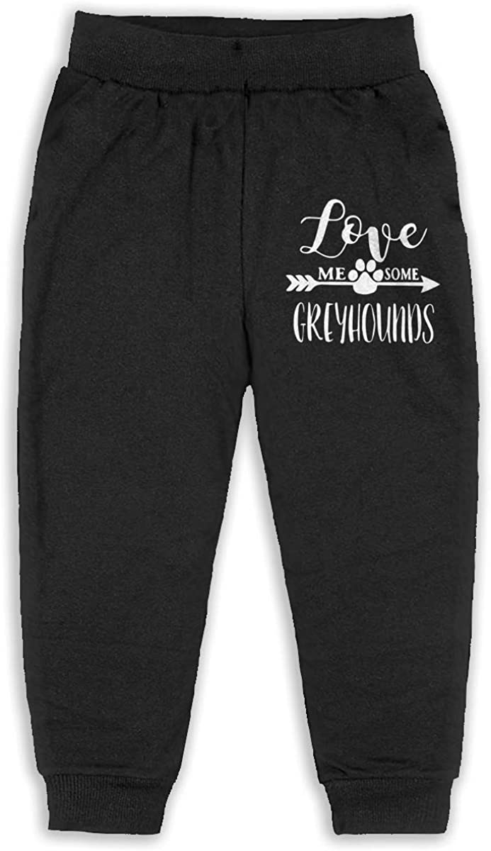 Soft Cozy Baby Boy Jersey Pant Love Me Some Greyhounds-1 Unisex Baby Pants