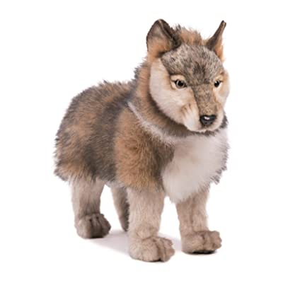 HANSA Standing Wolf Cub Plush: Toys & Games