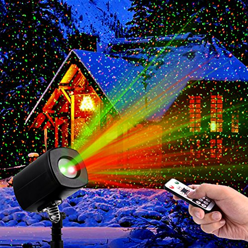 Christmas laser lightsoutdoor projector lights with remote control christmas laser lightsoutdoor projector lights with remote control by clustars ip65 waterproofred and green aloadofball Choice Image