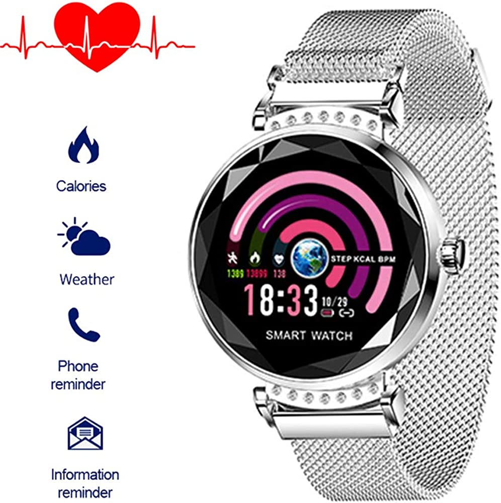 Bluethooth Smartwatch IP68 Blutdruck Pulsuhr Fitness Tracker Leder Sport Uhr DHL