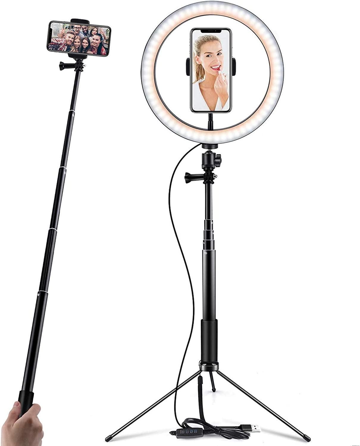 10 Inch Ring Light Selfie Ring Light With Tripod Camera Photo