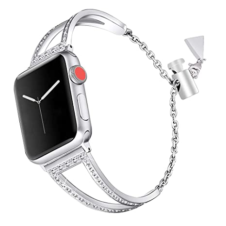 Bracelet Apple Watch 42mm Acier,Bracelet Femme Apple Watch 4 iWatch Series 3  Bracelet Apple