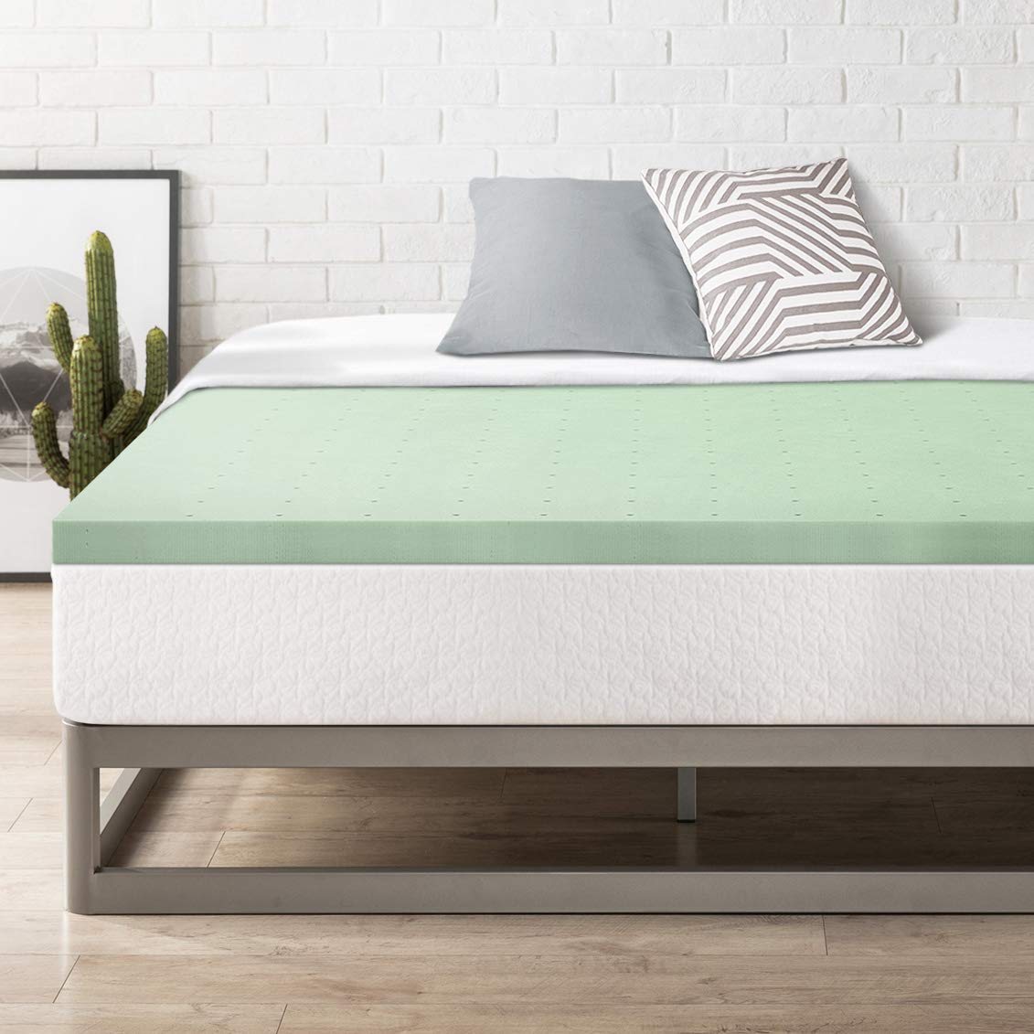 Amazon.com: Best Price Mattress TXL 2 Inch Memory Foam Bed Topper with Green Tea Cooling Mattress Pad, Twin XL Size: Kitchen & Dining