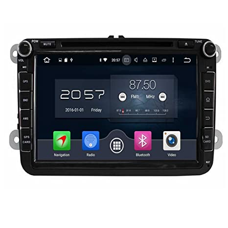 NFS 8 Pulgadas Coche Radio con GPS Quad Core Android 6.0 para VW Magotan Scirocco Amarok