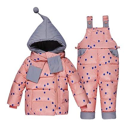 e8fcb2d9d Yishelle Girls Winter Snowsuit Winter Warm Puffer Down Jacket Two ...
