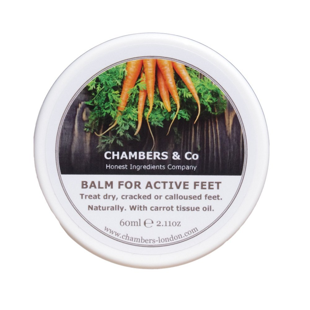 Carrot Tissue Regenerating, Soothing Balm for Dry, Cracked Feet by Chambers & Co With Hemp Oil and Avocado (Floral, 60ml) Chambers Guilfoyle Ltd