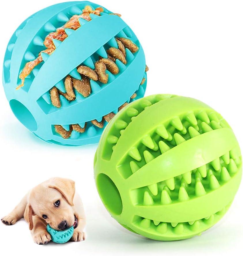 Pelota para Perros,Bola de Limpieza de Dientes Juguetes para Perros Mascotas Pelota de Goma Elástica,Bolas Juguetes Interactivos para Morder Perro