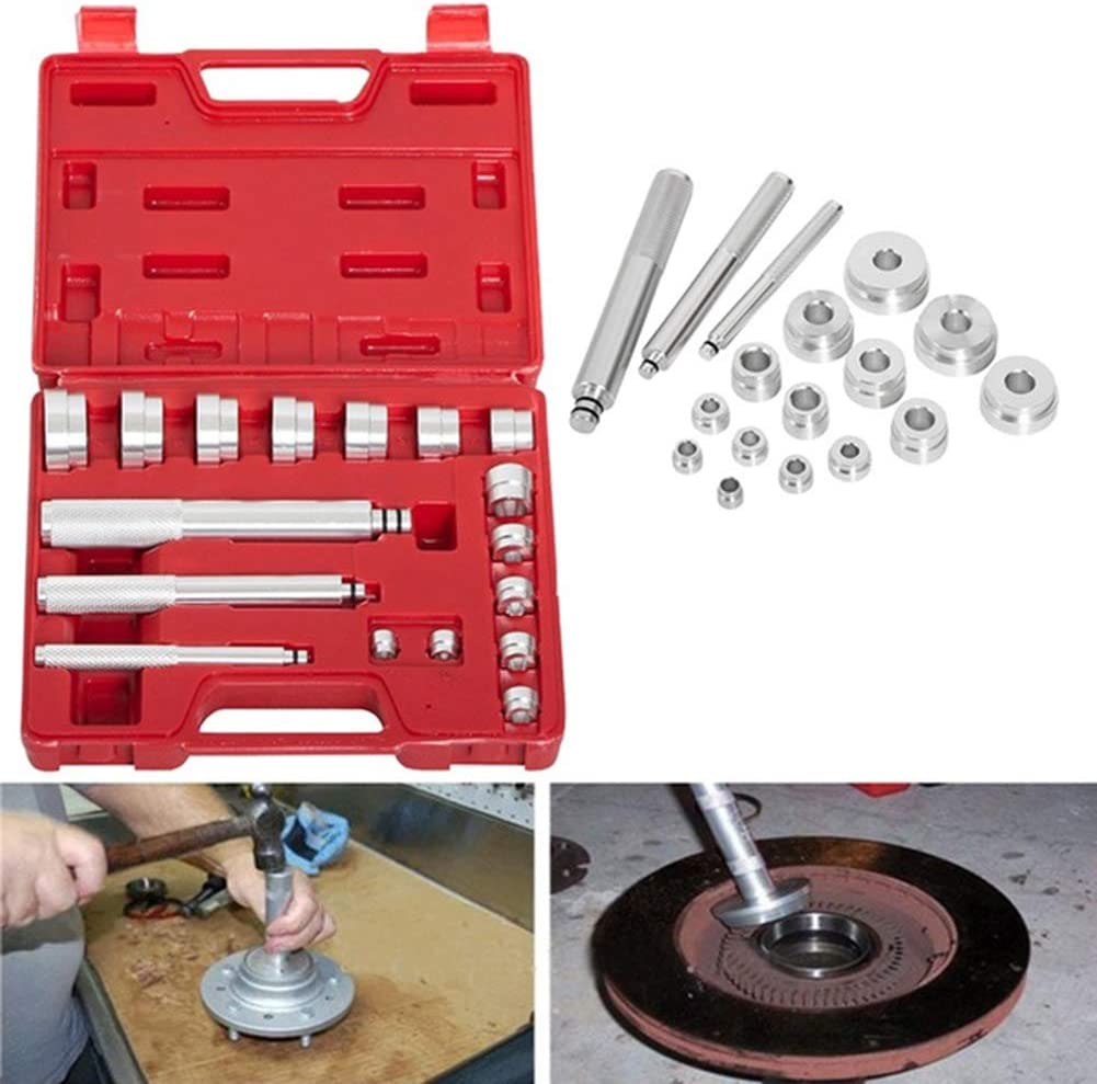 BESTEU 17Pcs Bearing Driver Aluminiumlager Race und Seal Treiber Installation Removal Tool Kit
