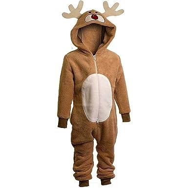 unisex reindeer onesie 2 to 6 years reindeer all in one fancy dress 2 - Reindeer Images 2