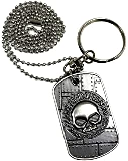 Amazon.com: Harley-Davidson Dog Tag, Winged Skull Distressed ...