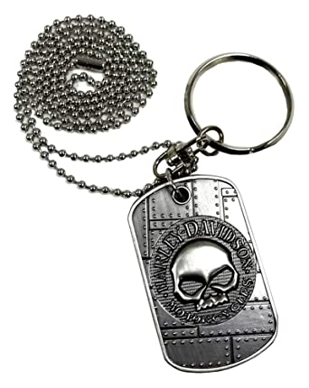 Amazon.com: Harley-Davidson Dog Tag, Willie G. Cráneo/bar ...