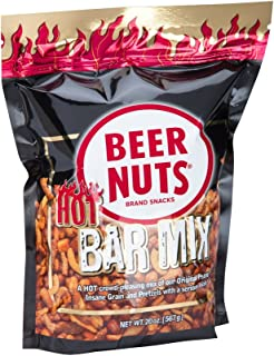 product image for BEER NUTS Hot Bar Mix - Grab Bag - 20 oz Resealable Bag, Spicy Sesame Sticks, Original Peanuts, Pretzel Balls, Nacho Corn Sticks