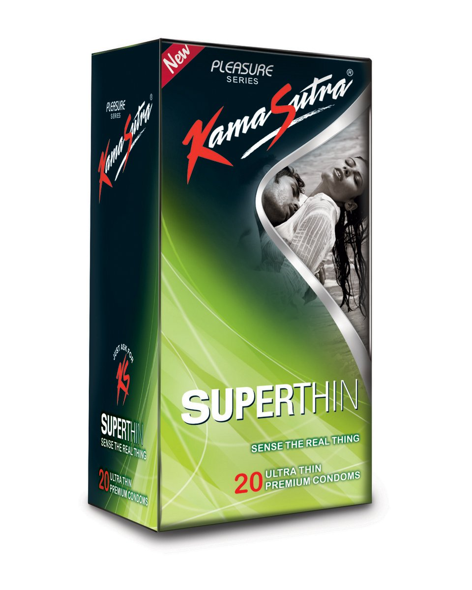 KamaSutra Superthin Condoms for Men, 20 Count