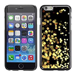 LECELL--Funda protectora / Cubierta / Piel For Apple iPhone 6 -- Yellow Lights Gold Sparkling Black --