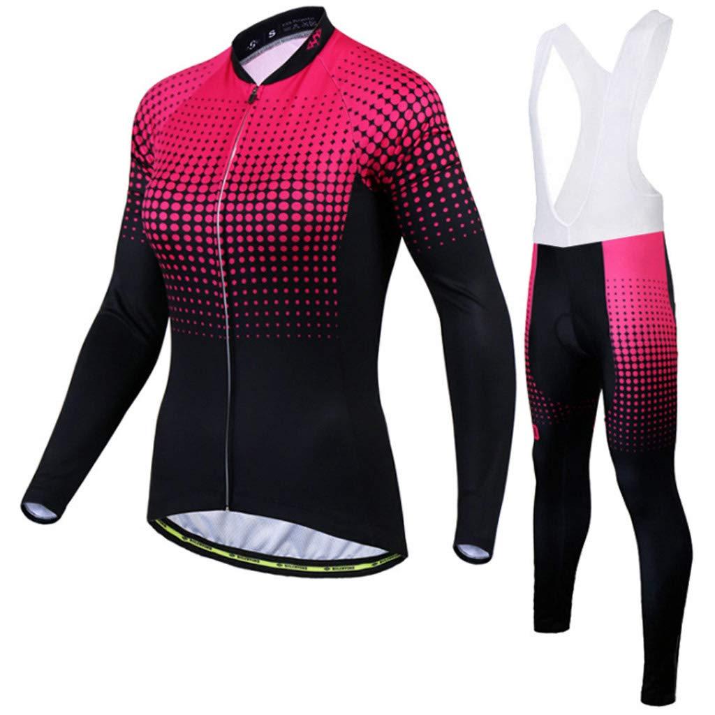 Lilongjiao Radfahren Anzüge für Männer und Frauen langärmelige Strap Set Sonnencreme Frühling und Herbst Mountainbike Bekleidung Outdoor Sportswear