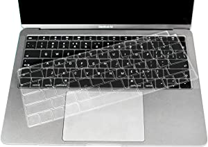 """Ultra Thin Clear Keyboard Cover Protective Skin Protector Compatible with Newest MacBook Air 13 inch with Retina Display Model A1932, 2018 Release (not fit Old Version MacBook Air 13"""" A1369 & A1466)"""