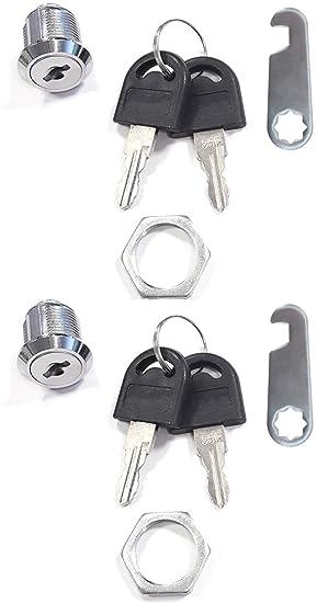 com-four® Cerraduras de buzón 2, Cerradura de Muebles con Llave, 16 mm (02 Piezas - 16 mm V1): Amazon.es: Hogar