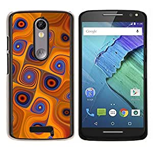 "For Motorola Droid Turbo 2 / Moto X Force , S-type Naranja Remolinos"" - Arte & diseño plástico duro Fundas Cover Cubre Hard Case Cover"