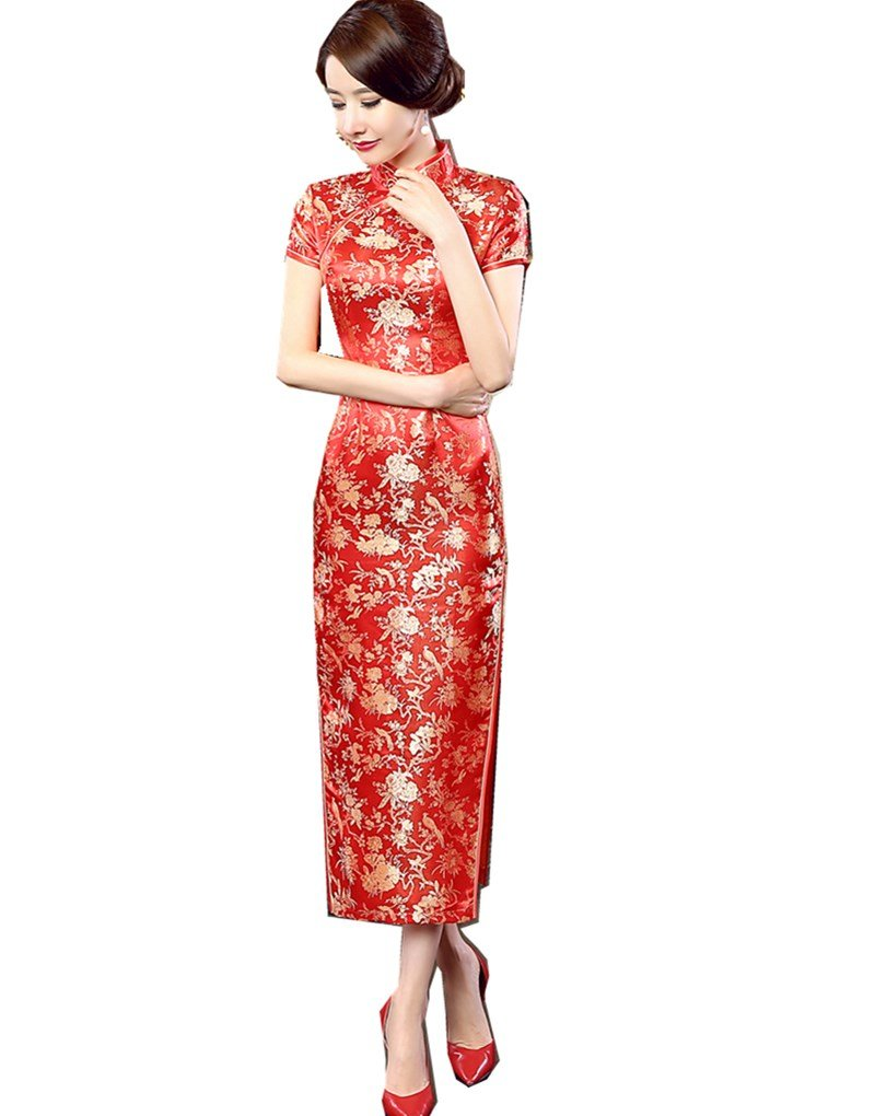 Shanghai Story Long Chinese Wedding Dress Qipao Cheongsam Party Dress Gown 6 32
