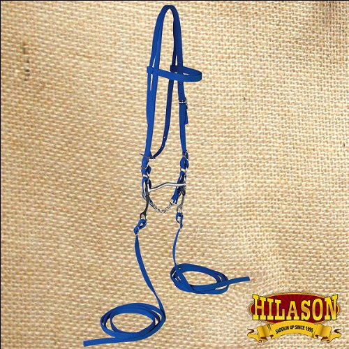 - HILASON POLYPROPYLENE HORSE BROWBAND BRIDLE HEADSTALL SPLIT REINS BIT CURB CHAIN