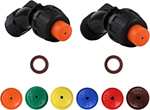 Aimela Sprayer Nozzle Tips,6 Different Types of Hollow Cone Nozzle, Adjustable Sprayer Parts Nozzle,Suitable for The Replacement of Knapsack Nozzle, Pump Nozzle and Orchard Nozzle