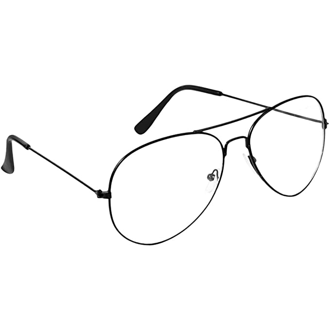 6566143f3b Dervin UV Protected Aviator Unisex Sunglasses (Clear)  Amazon.in  Clothing    Accessories