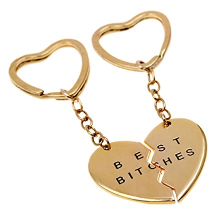 Amazon.com: New Fashion Best Bitches Heart-shaped Lovers ...