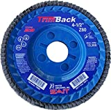United Abrasives- SAIT 70858 Trim Back Flap Disc with 5-Inch-Inch Diameter and 7/8-Inch Arbor, 10-Piece
