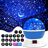 MOKOQI Stage Projection Effects Rotating Star Sky Projection Night Lights for Kids Toys Table Lamps with Timer & Color Changing for 1-6-10 Year Old Gifts Girls Boys Bedroom