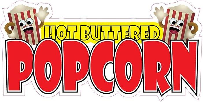 Popcorn Concession Restaurant Food Truck Die-Cut Vinyl Sticker