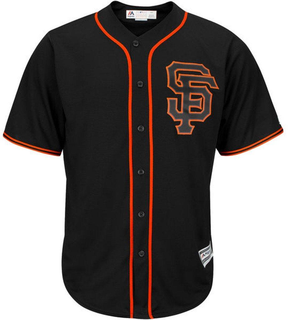 21ba15bcd819 Amazon.com   San Francisco Giants MLB Mens Majestic Cool Base Alternate Jersey  Black Big   Tall Sizes   Sports   Outdoors