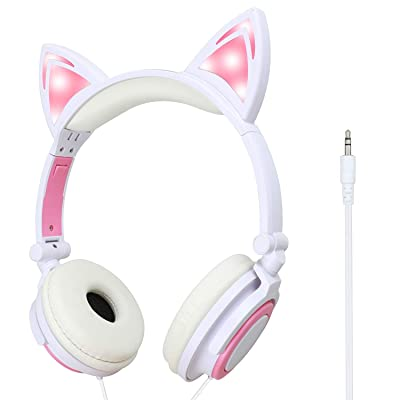 blinkee Pink LED Kitty Cat Animal Ears Headphones by: Toys & Games