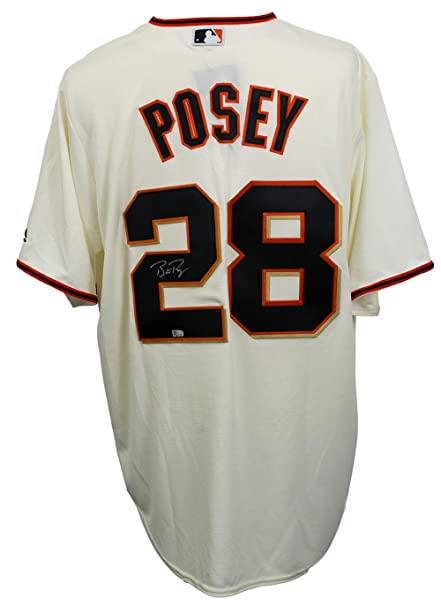 new arrival 03afe cdd4d Buster Posey Signed San Francisco Giants Majestic Cool Base ...