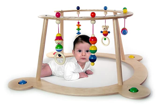 Hess 13370 Wooden Bear Henry Gym /& Walker Baby Toy 70 x 70 x 36 cm Multi-Color