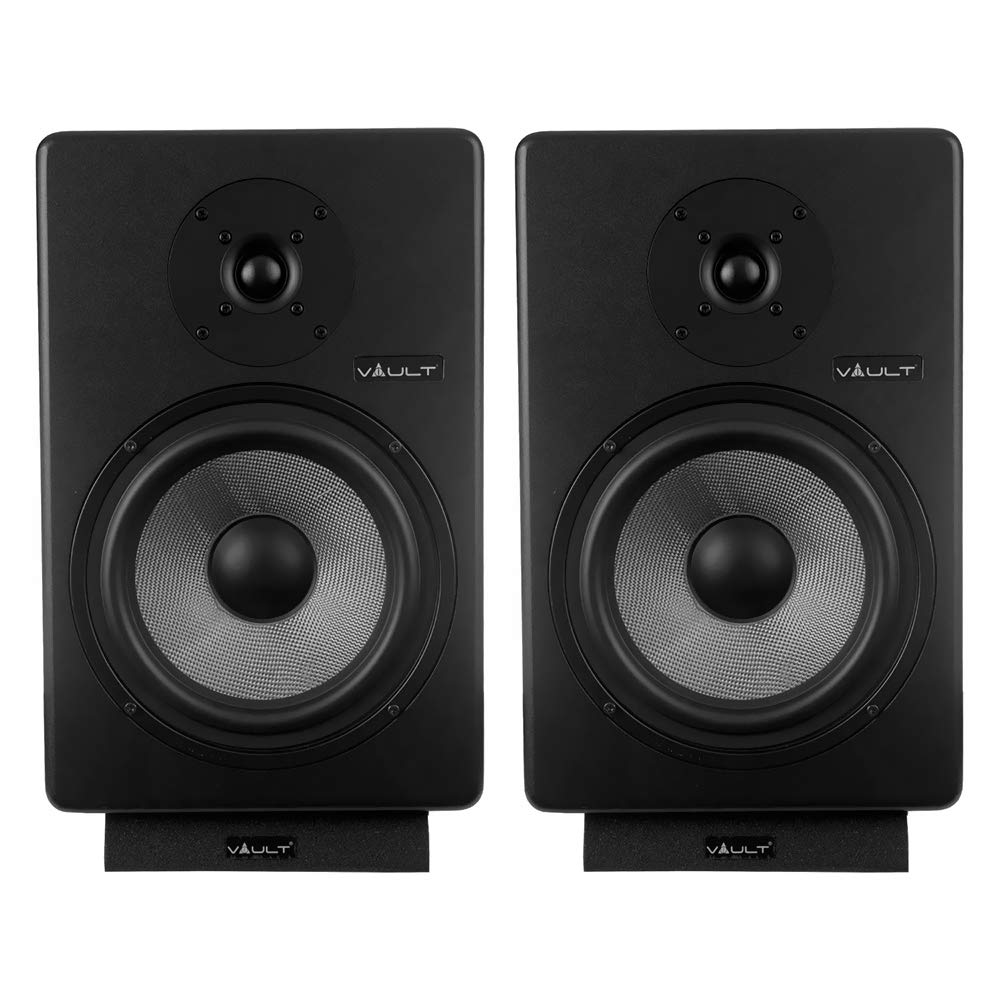 VAULT C8-Inch Powered Studio Reference Monitors Pair With
