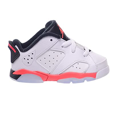 Jordan 6 Retro Low BT Toddlers Baby Infants Shoes White/Infrared 23-Black  768883