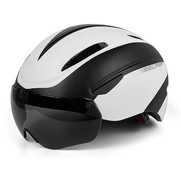LEADFAS Casco Bicicleta con LED, Kinglead Protección de Seguridad Ajustable Casco de Bicicleta Ligera para Montar en Bicicleta Casco de Bicicleta BMX ...