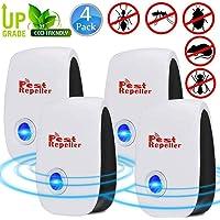 NALCY Repelente Ultrasonico, 4 Piezas Electrónico Repelente Mosquitos
