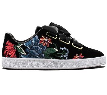 UK3.5 Puma Womens Basket Heart Hyper Floral, Women's Fashion