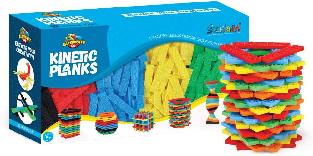 Bulk Dominoes Kinetic Domino Planks Stacking Building Toppling Chain Reaction Dominoes Set for Kids and Creators 500pc