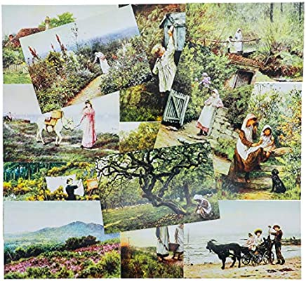 European Old World 2 of Each 40 Pack Vintage Postcards Collection Variety Pack World Theme Self Mailer Mailing Side Postcards 20 Different Designs 40 Pack Postage Saver 4 x 6 Inches
