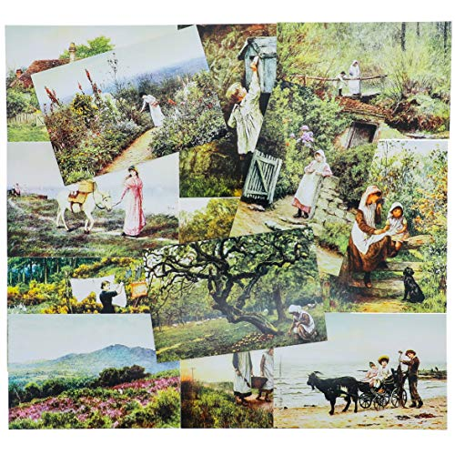 40 Pack Vintage Postcards Collection Variety Pack World Theme Self Mailer Mailing Side Postcards 20 Different Designs, 2 of Each, 40 Pack Postage Saver - Old World - European - 4 x 6 Inches