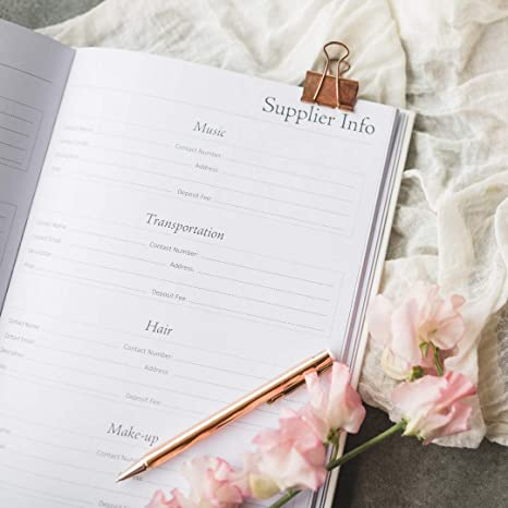 Amazon.com: Organizador de agenda de bodas y diario, tapa ...