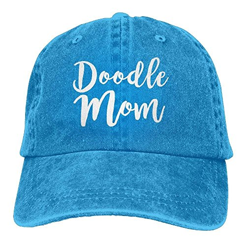 HU MOVR Cowboy Hat Doodle Mom Adult Adjustable Athletic Customized Best Graphic Cap for Men and Women ()